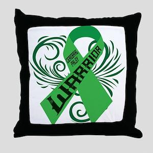 Cerebral Palsy Warrior Throw Pillow