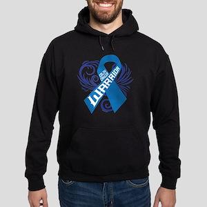 Colon Cancer Warrior Hoodie (dark)