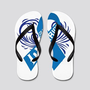 Colon Cancer Warrior Flip Flops
