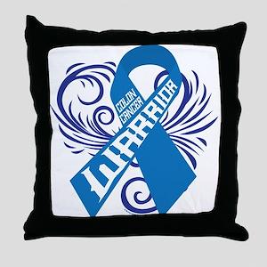 Colon Cancer Warrior Throw Pillow