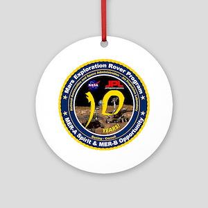Mars Rovers 10Th Birthday! Ornament (Round)