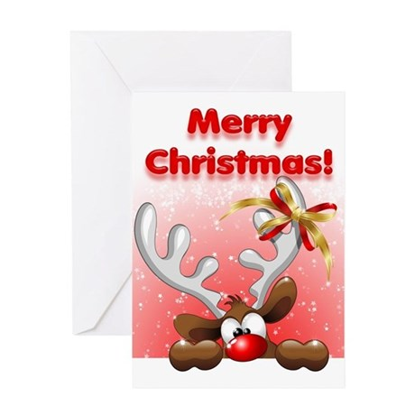 reindeer christmas card reindeer greeting cards by 2824