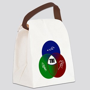 Tri circles Canvas Lunch Bag