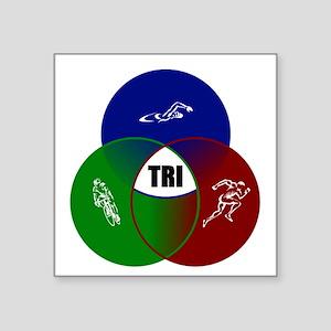 "Tri circles Square Sticker 3"" x 3"""