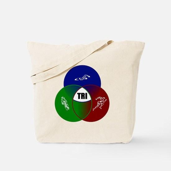 Tri circles Tote Bag