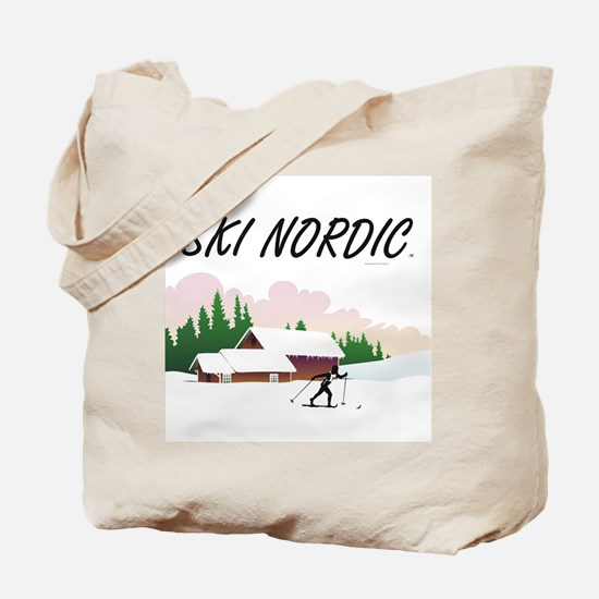Ski Nordic Tote Bag