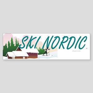 Ski Nordic Sticker (Bumper)