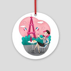Je T'aime Paris Ornament (Round)