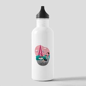 Je T'aime Paris Water Bottle
