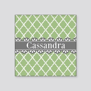 Sage Moroccan Lattice Grey Lace Sticker