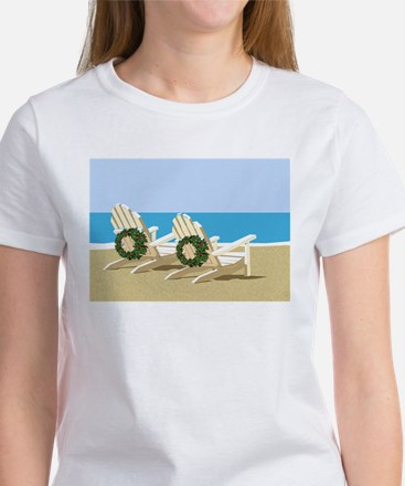 Beach Chairs with Wreaths T-Shirt