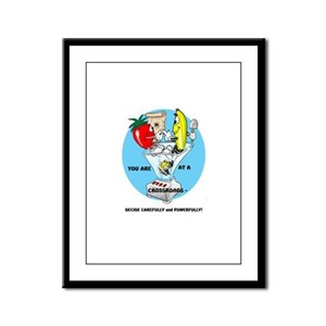 DECISIONS CARTOON QUOTE Framed Panel Print