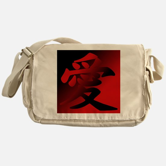Cute Kanji Messenger Bag