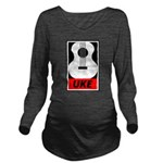 Obey the Uke Long Sleeve Maternity T-Shirt