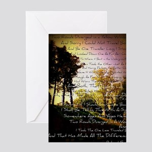 Two Roads Greeting Card