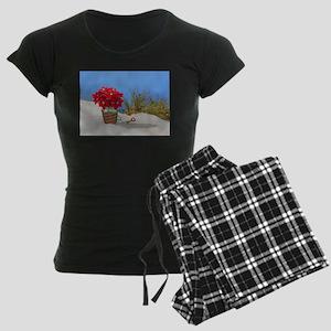Pointsettia in a Sand Pail Pajamas