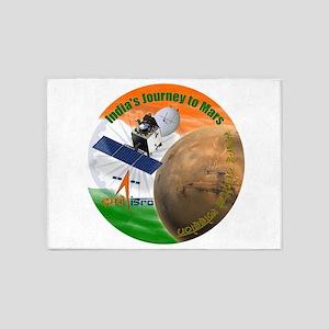 India's Mars Orbiter (MOM) 5'x7'Area Rug