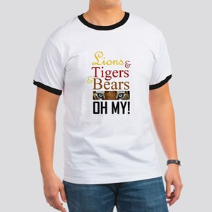 Lions & Tigers & Bears Ringer T