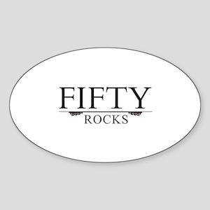Fifty Rocks Sticker (Oval)