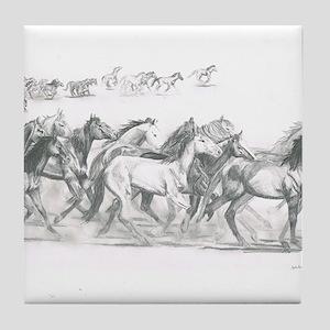 Running Horses Tile Coaster
