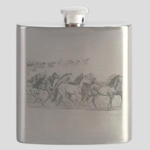 Running Horses Flask
