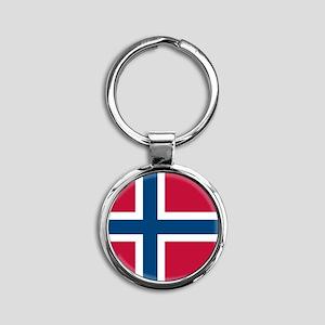 Norwegian Flag Keychains