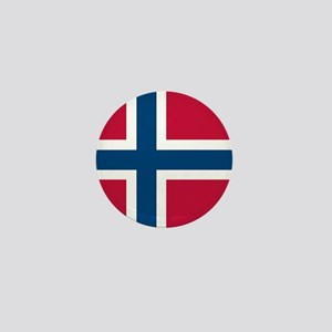 Norwegian Flag Mini Button