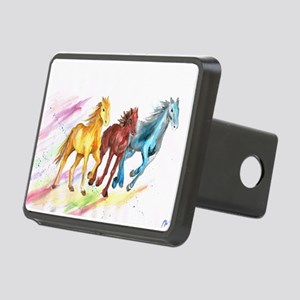 Watercolor Horses Hitch Cover