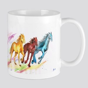 Watercolor Horses Mugs