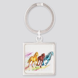 Watercolor Horses Keychains