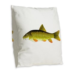 Barbel Burlap Throw Pillow