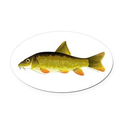 Barbel Oval Car Magnet