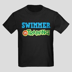 Swimmer in Training Kids Dark T-Shirt