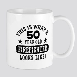 50th Birthday Firefighter Mug