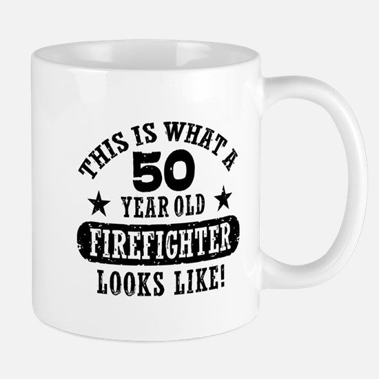 50th Birthday Firefighter Mug