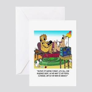 Lion Eats Insurance Agent Greeting Card