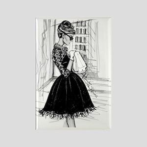 fashion sketch Rectangle Magnet