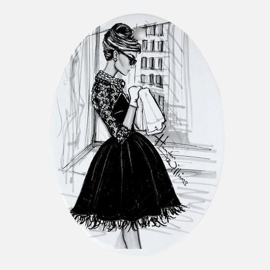 fashion sketch Oval Ornament