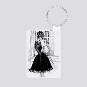 fashion sketch Aluminum Photo Keychain