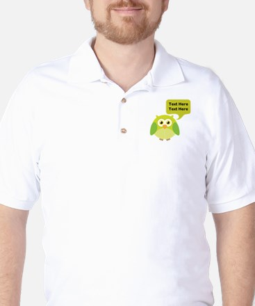 Personalized Funny Owl Golf Shirt