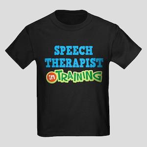 Speech Therapist in Training Kids Dark T-Shirt