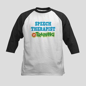 Speech Therapist in Training Kids Baseball Jersey