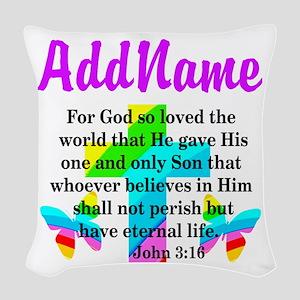 JOHN 3:16 Woven Throw Pillow