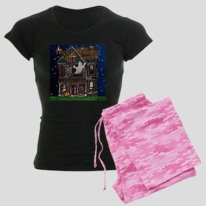 Harvest Moon's Haunted House Ladies Dark Pajamas