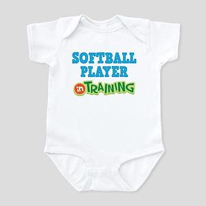 Softball Player in Training Infant Bodysuit