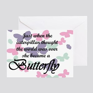 Inspirational Butterfly Greeting Card