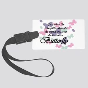 Inspirational Butterfly Large Luggage Tag