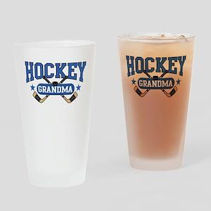 Hockey Grandma Drinking Glass