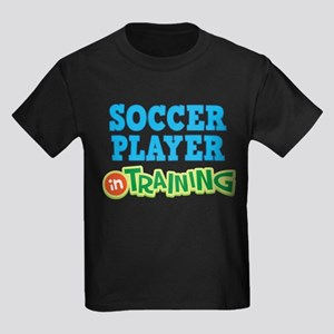 Soccer Player in Training Kids Dark T-Shirt