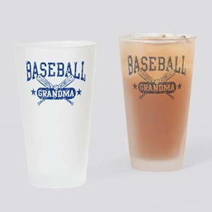 Baseball Grandma Drinking Glass